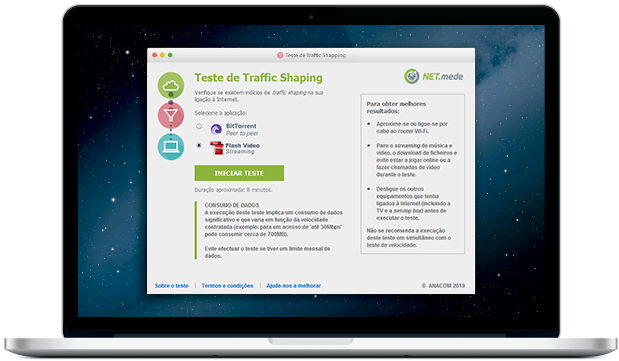 Apps para o Traffic Shaping
